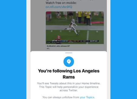 Twitter即将推出新功能Topics能跟随话题