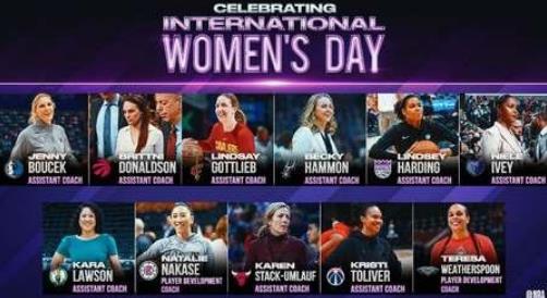 女神节NBA推特祝福女性助教节日快乐
